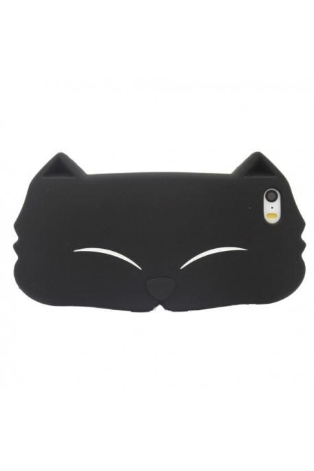 Coque tête de chat noire 5/5s/5c
