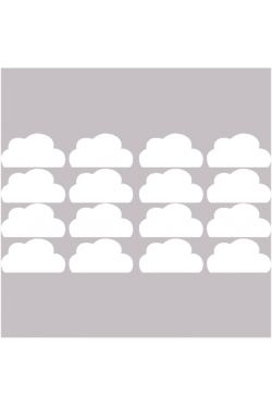 Stickers nuages blancs