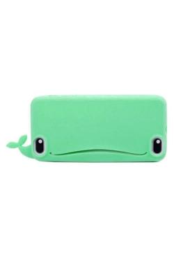 Coque porte carte baleine silicone vert 5/5s/5c
