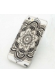 Coque mandala noir Iphone - 5 / 5S / 5C / 6