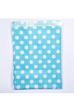 Petites pochettes cadeaux bleues pois