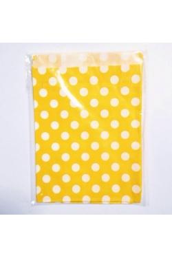 Petites pochettes cadeaux jaunes pois