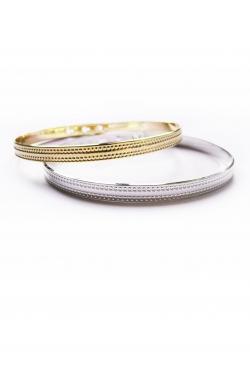 Bracelet jonc 3 positions martelé argent