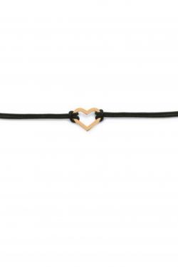 Bracelet en plaqué-or et fil de coton