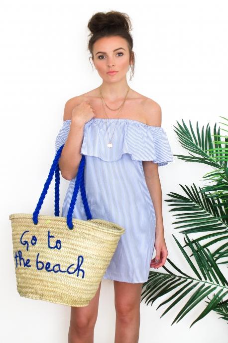 "Panier ""Go to the beach"" rouge"