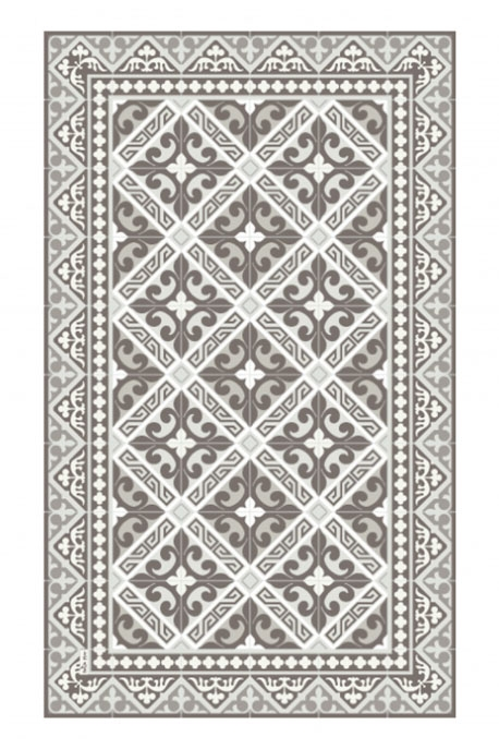 Tapis L3 60 x 100 cm Collection Flor de Lis Taupe
