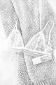 Soutien-gorge dentelle & transparence blanc