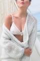 Soutien-gorge fleur & résille blanc