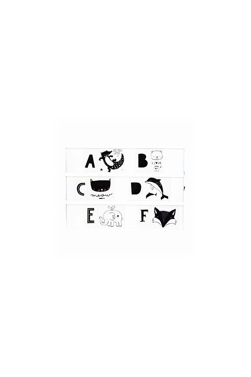 Set de lettres monochrome Kids - 1