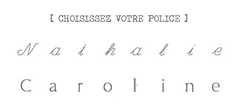 choix police collier personnalisé